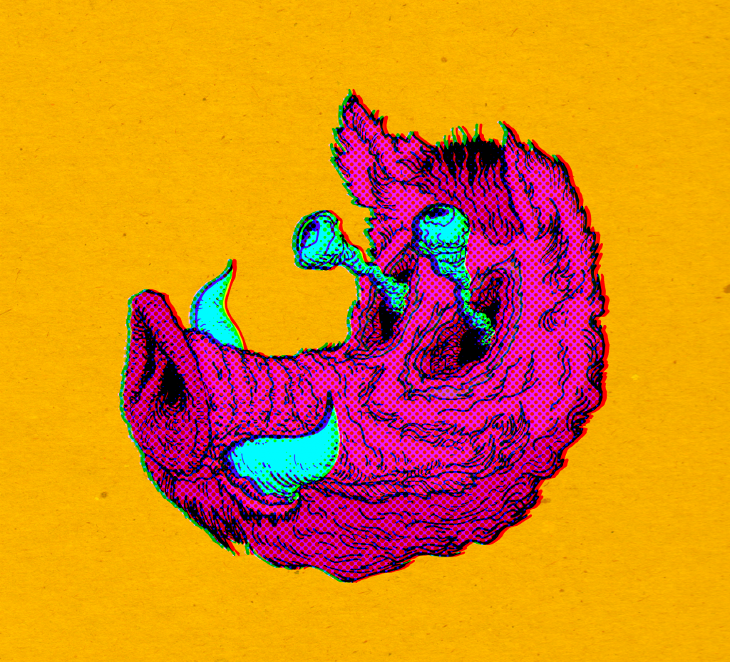 boar head on a yellow background