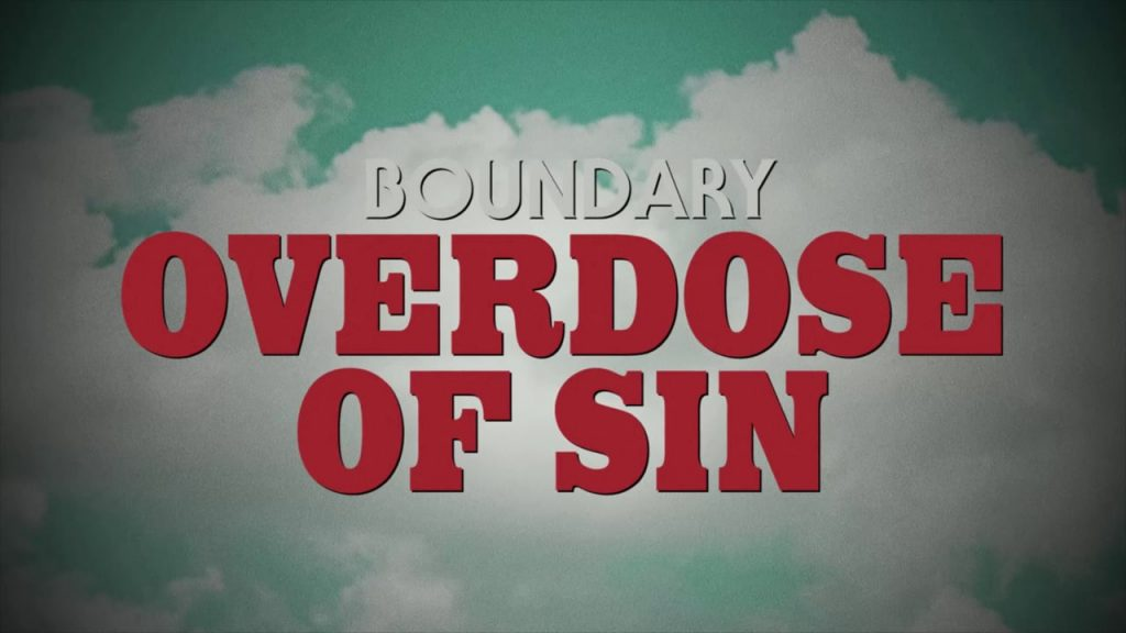 The Process: Boundary – Overdose of Sin. Animated music video. - A close up of a sign - Logo